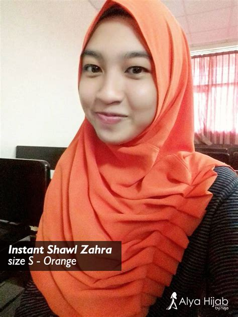 Alya Non Pashmina 2 kakak kakak cantik yang memakai instant shawl zahra alya by naja jual dan