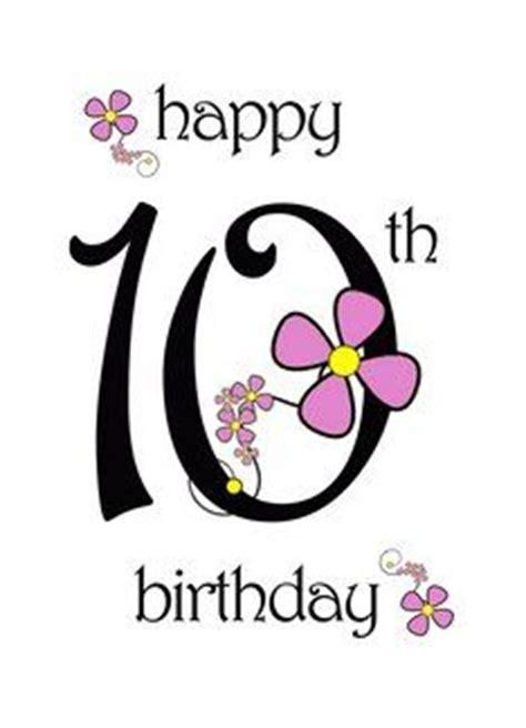 Happy 10th Birthday Wishes Cards Birthdays 10 On Pinterest 50th Birthday Cards