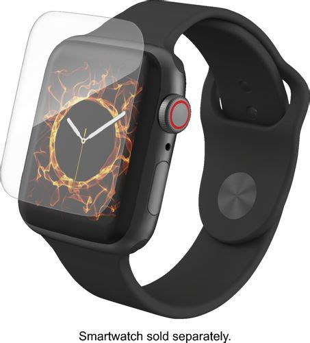 Apple Series 4 Zagg by Apple Apple Series 4 Gps 44mm Space Gray Aluminum With Black Sport Band Space Gray