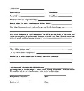 sample employee complaint forms 8 download free