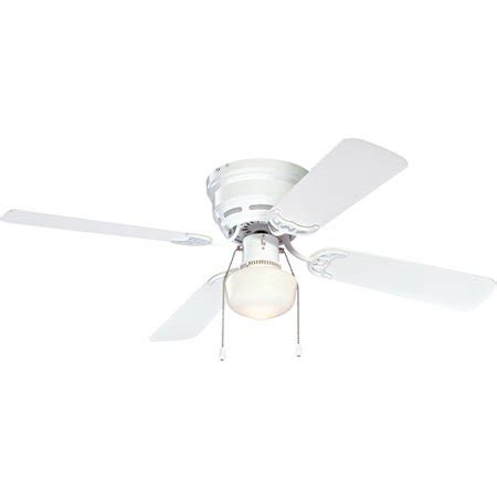 42 white ceiling fan with light mainstays 42 quot ceiling fan with light kit white walmart com