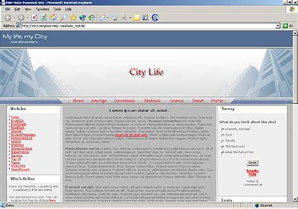 Web Portal Instan Asp Nuke template 16478