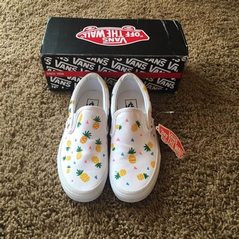 Painted Slip Ons vans painted pineapple quot vans quot slip ons from