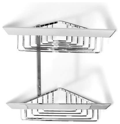 bathtub caddy modern italbrass kone double corner shower basket modern