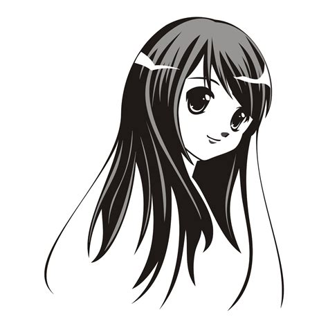 anime vector vector for free use lovely anime girl