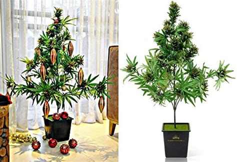 pot plant christmas altar cannabis plant with beautiful buds artificial marijuana silk plant with real look 42