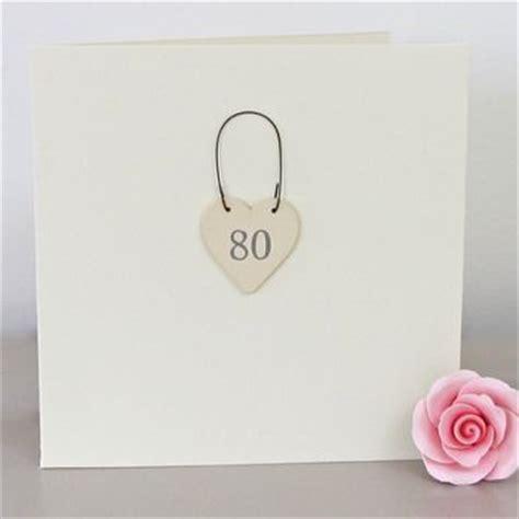 Handmade 80th Birthday Cards - 80th handmade birthday card by chapel cards