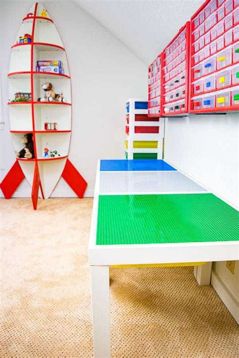 diy lego table white diy lego table with storage the handyman s
