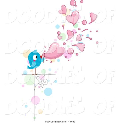 doodle bubbles vector free vector clipart of a doodled bird blowing