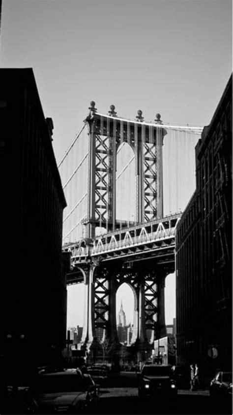 manhattan bridge  york black  white iphone   hd