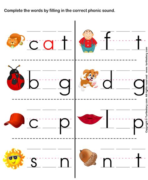 Worksheet On Phonics For Kindergarten by Page