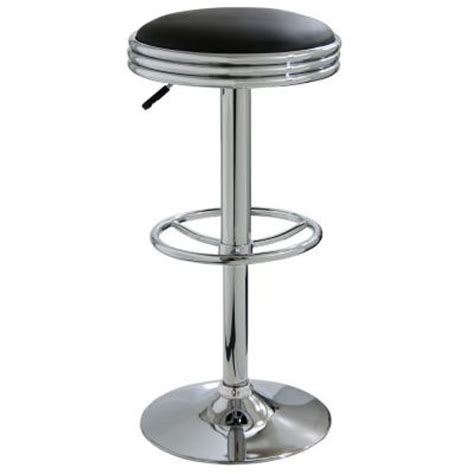 Soda Shop Bar Stools by Amerihome Retro Style 30 In Soda Bar Stool In Black Bs1208 The Home Depot