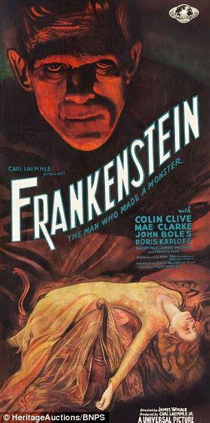 frankenstein the two hundred years books 84 year frankenstein poster found in abandoned cinema