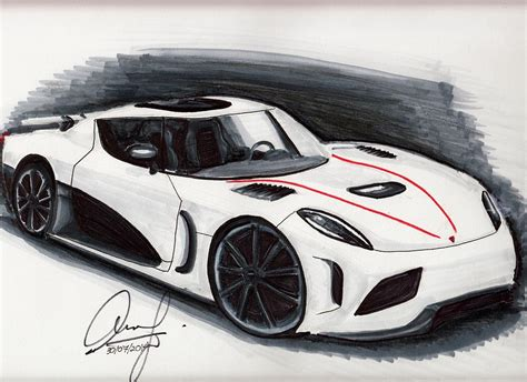 koenigsegg car drawing koenigsegg agera r drawing by aaron khoo