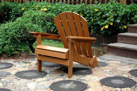 folding adirondack chair with ottoman faux wood folding adirondack chair with pull out ottoman