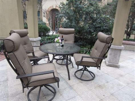 patio sets clearance 5pc outdoor cushion swivel rocking