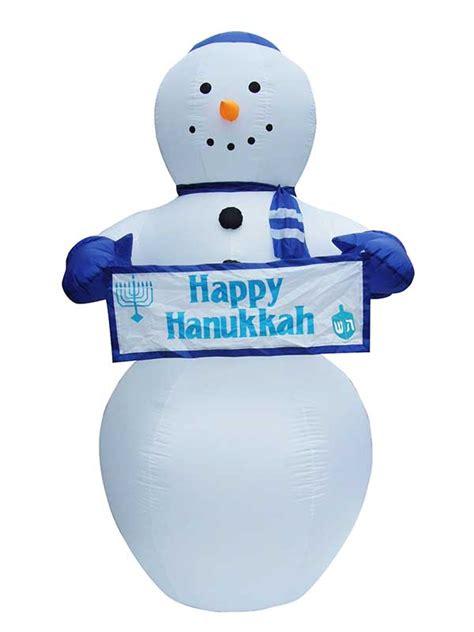 inflatable hanukkah decorations lawn blowup airblown happy hanukkah snowman