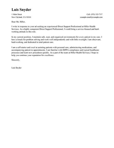 who do you direct a cover letter to best direct support professional cover letter exles