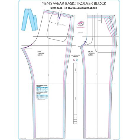 pattern grading rules pdf buy men s basic trouser block patterns online