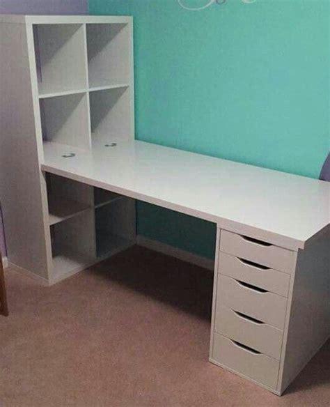 kallax desk ideas  pinterest bureau ikea