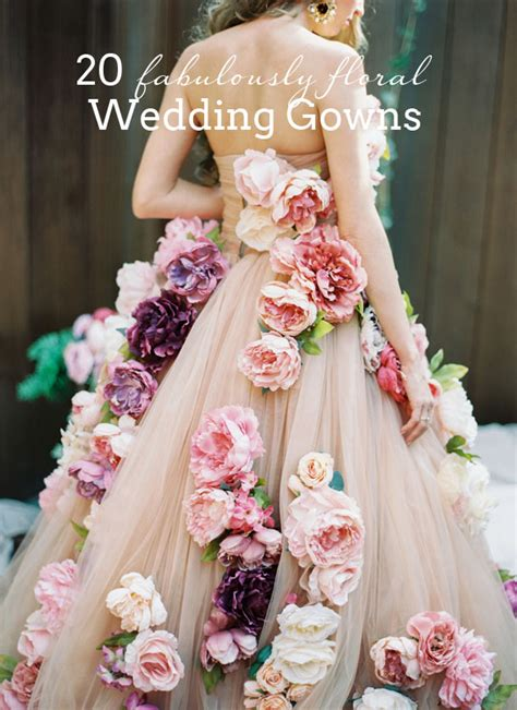 Flower Dresses For Wedding by 20 Floral Flower Wedding Dresses Southbound