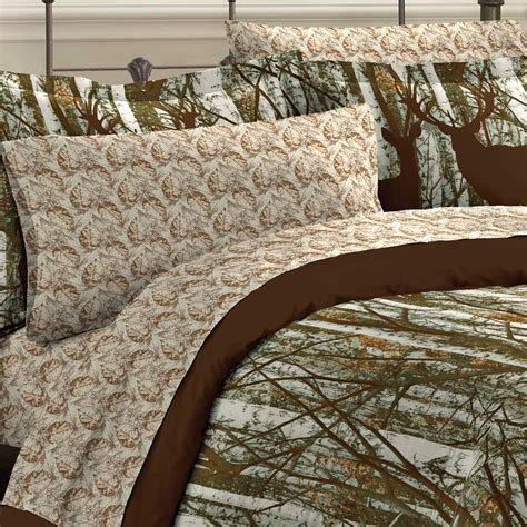 outdoor comforter new forest hunting lodge deer outdoors bedding comforter