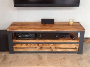 meuble tv bois m 233 tal meuble t 233 l 233 style industriel bois m 233 tal