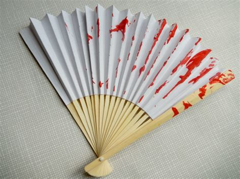 Japanese Paper Fan Craft - wool painted fan craft crafts on sea