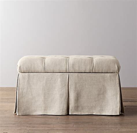 restoration hardware bench benches trunks room ornament