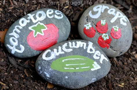 Painted Garden Rocks by Flowers Tomatoes Cucumbers A Time Gardener