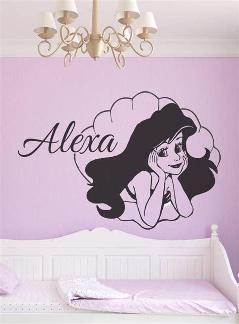 ariel wall stickers ariel wall decal personalised mermaid disney princess
