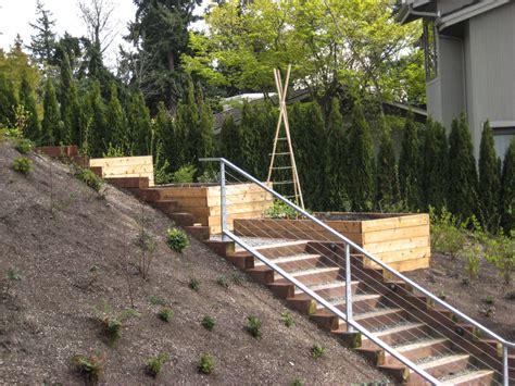 Terraced Backyard Landscaping Ideas Terraced Bellevue Vegetable Garden Seattle Urban Farm