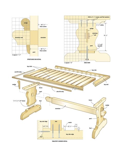dining table plans  woodworking enthusiasts