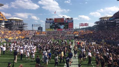 pitt student section pitt beats penn state 2016 student section aftermath