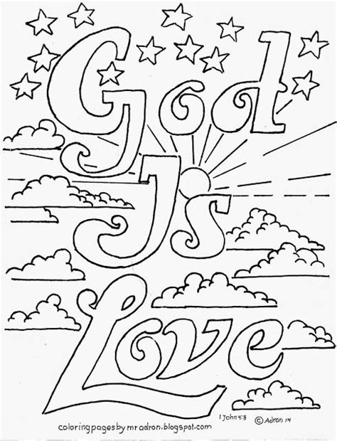i love vbs as a color sheet time filler before assembly coloring pages for kids by mr adron god is love