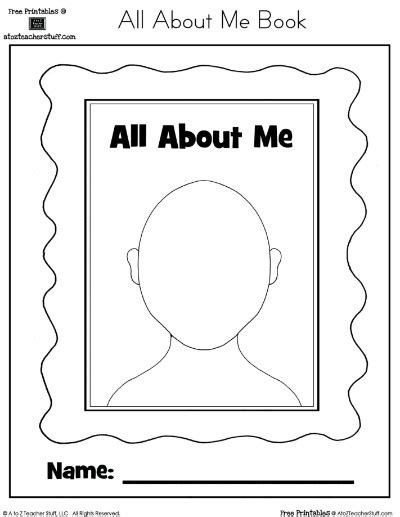 worksheet on myself for kindergarten 1000 images about