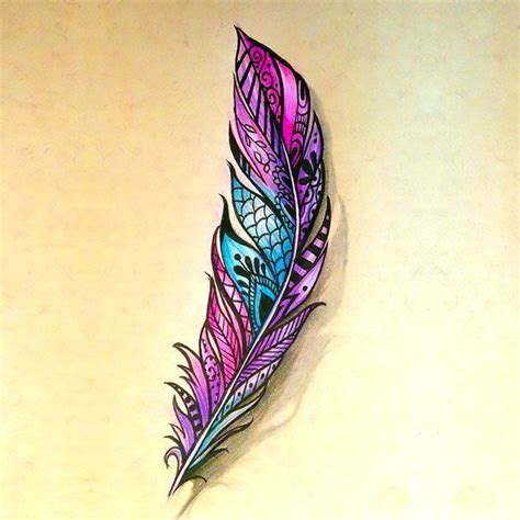 colorful feather tattoos best 25 color feather tattoos ideas on