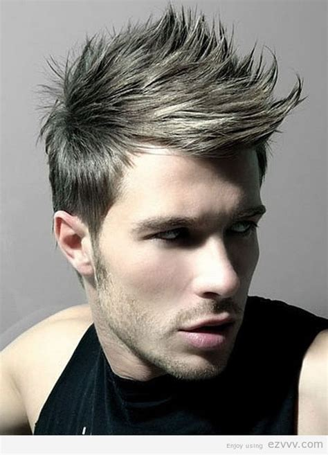 short spiked fohawk mens spiky hairstyles for men faux hawk mens hairstyle