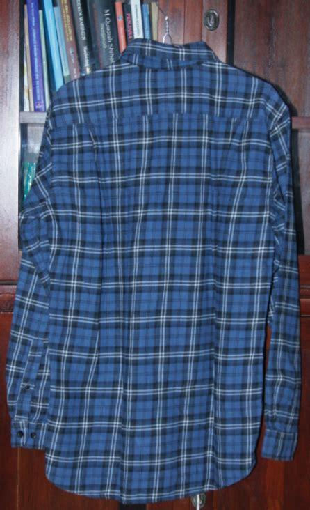 Authentic Uniqlo Flannel authentic shirt flannel men s sea blue white size m reclusive junkyard