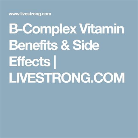 b supplements side effects 25 best ideas about vitamin b complex benefits on