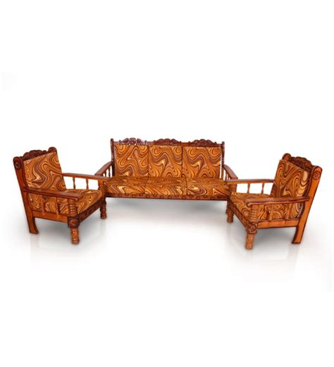 sofa set wood rajputana upholestered sofa set by mudramark online sofa