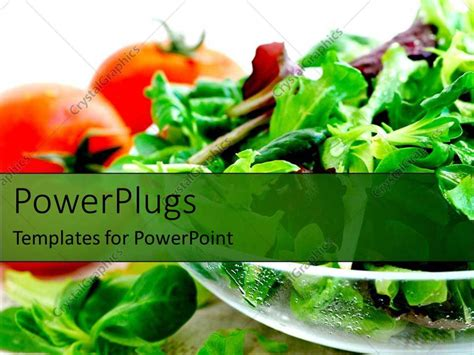 powerpoint templates vegetables powerpoint template health salads vegetables tomatoes and