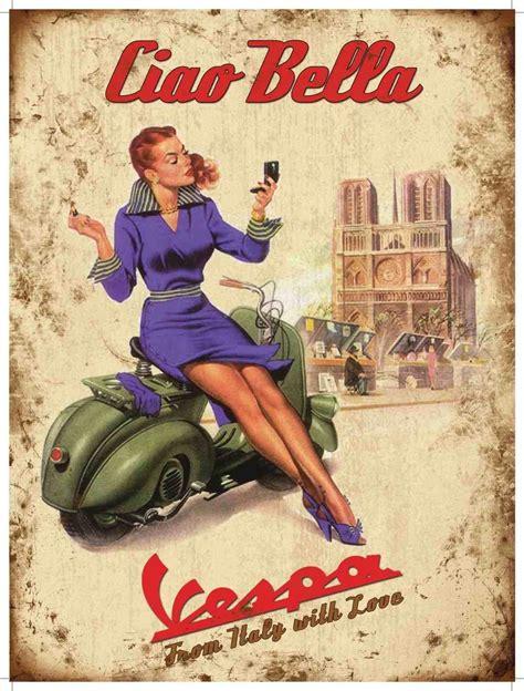 Vespa Vintage Poster vintage italian vespa posters bierwerx