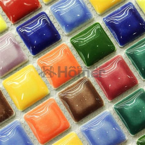 shipping free lovely glazed 25x25mm ceramic mosaic tiles