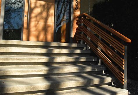 Handrails Vancouver concrete stairs and wood handrails contemporary vancouver by howard vera design inc