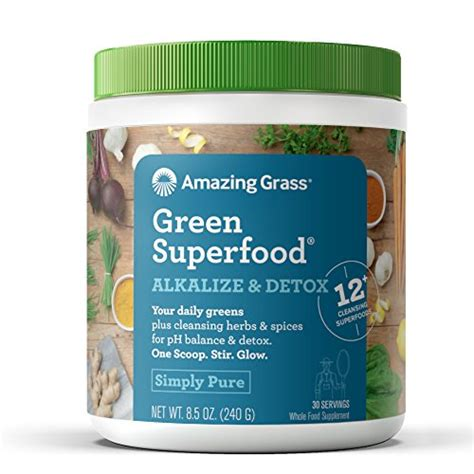 Wheatgrass Powder Detox by Amazing Grass Green Superfood Alkalize Detox Organic