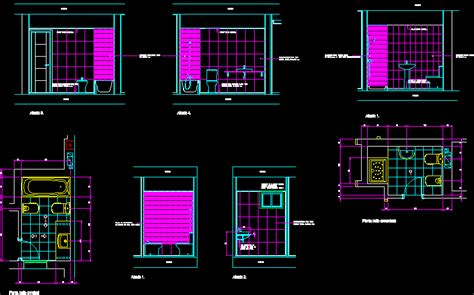 toilet section dwg bathroom details dwg section for autocad designs cad