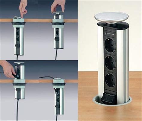 stopcontacten keuken evoline verzinkbare keuken stopcontact 3 voudig met witte