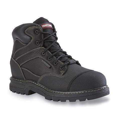 mens winter boots sears craftsman s theo black waterproof leather steel toe