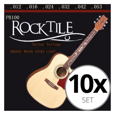 guitar strings light rocktile light acoustic guitar strings 10 pack